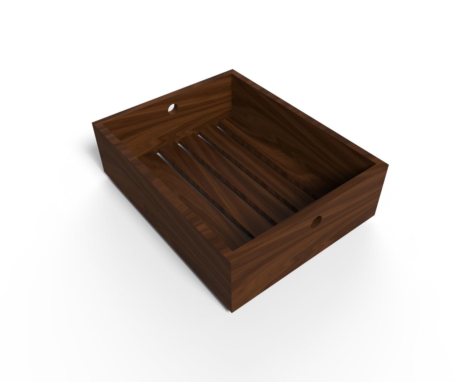 Bandeja alta de madera lumiere ajidise o - Bandeja de madera ...