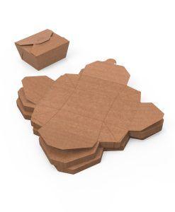 caja box grande desarmada - delibery y take away