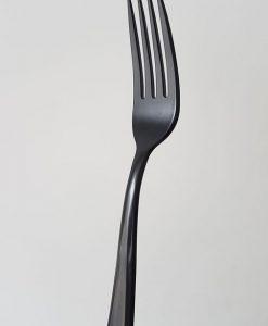 Tenedor negro 19 cm